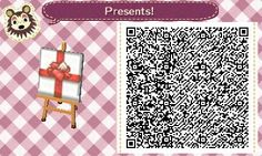 ACNL QR Code: Gift-Wrapped Present