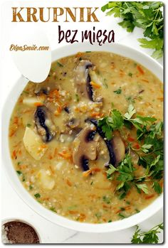 Veggie Recipes, Soup Recipes, Cooking Recipes, Healthy Recipes, Veggie Meals, My Favorite Food, Favorite Recipes, Polish Recipes, Polish Food