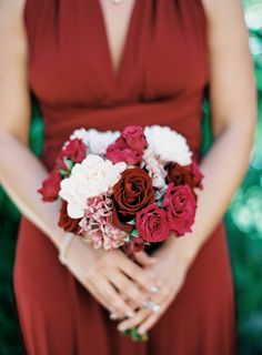 View entire slideshow: Red + White Bouquets on http://www.stylemepretty.com/collection/1914/