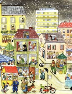 'Winter-Wimmelbuch' written and illustrated by Rotraut Susanne Berner (art, children's illustrations) Teaching Spanish, Teaching English, Teaching Kids, Communication Orale, Picture Comprehension, Picture Writing Prompts, Hidden Pictures, Illustrator, How To Speak Spanish
