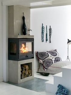 "Smart: Pelletofen ""Pallazza III"" von Haas + Sohn - Bild 15 - For the Home - Kasten Open Fireplace, Stove Fireplace, Fireplace Design, Fireplace Ideas, Home And Living, Living Room, Pellet Stove, Cozy House, Sweet Home"