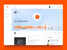 Soundcloud Song Layout / UI Challenge  Week 07 by Mario Šestak #Design Popular #Dribbble #shots