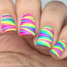 Summer water marble by @ermahgerdperlish