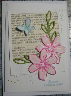 carte d'anniversaire stampin up
