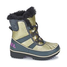 @sorelfootwear has designed these children's snow boots called Youth Tivoli, perfect for all their daily adventures! Very stylish, it has a waterproof gold leather upper for a trendy touch. #shoes #boots #leather #childrens #kids #winter #snowboots #waterproof #fashion #uk