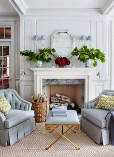 Simple but effective mantel. - House of Turquoise: Ashley Whittaker Design