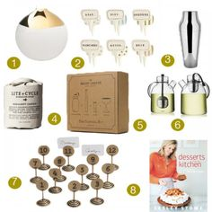 While the decision to host a holiday fête is always made with the best intentions, the pressure of entertaining can quickly become daunting. From nifty, numbered placeholders to an old-timey mason shaker-kit, these items will solidify your title as hostess with the mostess (or host with the most, whichever applies best).