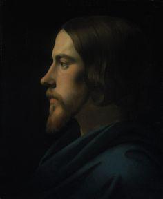 infirmo:  Paul Delaroche(1797-1856) Head of Christ (Portrait of Eugène Buttura)