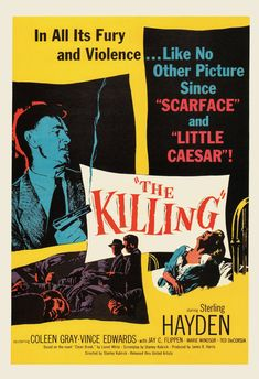 KUBRICK MOVIE POSTER The Killing Movie Poster by ArtDecoGallery