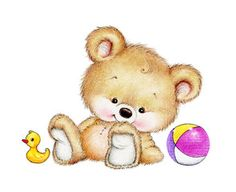 Illustration : Teddy bear with toys