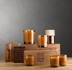 ITALIAN LEATHER SCENTED CANDLES.