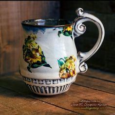 Hibiscus Coffee Mug ( The Creole Courtyard Collection )