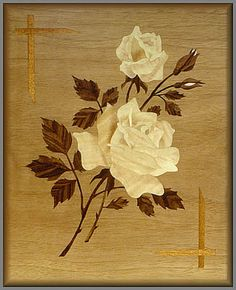 Roses Wooden Art, Wooden Crafts, Wooden Floor Pattern, Scroll Saw Patterns Free, Decoupage, Intarsia Woodworking, Stained Concrete, Leaf Art, Stone Carving