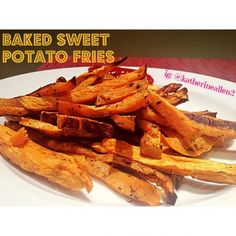 Ripped Recipes - Baked Sweet Potato Fries - Only 3 ingredients, only 20 minutes to make, and a perfectly delicious substitute to regular greasy french fries!