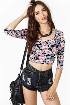 Grunge Girl Crop Top