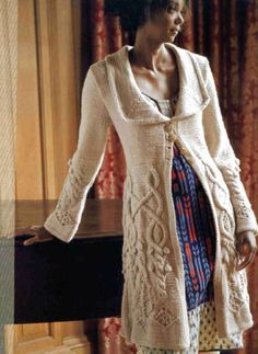 GORGEOUS!  Stunning knitted coat pattern by Michele Rose Orne, in the book Inspired to Knit
