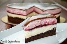 SÜTIK BIRODALMA: Málnás-csokoládés joghurttorta / Raspberry-chocolate-yogurt cake Chocolate Yogurt Cake, Kakao, Brownies, Raspberry, Cheesecake, Fish, Chocolate Mix, Molten Chocolate, Gelee