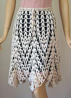 Crochet Skirts Ravelry: Felina Skirt pattern by Doris Chan - Crochet Bodycon Dresses, Black Crochet Dress, Crochet Skirts, Crochet Blouse, Knit Skirt, Crochet Clothes, Knit Crochet, Crochet Skirt Pattern, Dress Tutorials
