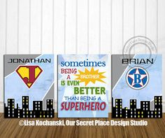 PRINTABLE Superhero Art Superhero Initial by OurSecretPlace, $16.99