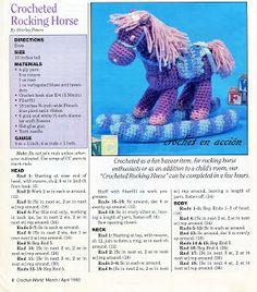 Crochet En Acción: amigurumis ... Rocking horse, free pattern