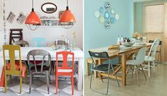 Sua própria combinação de mesa e cadeiras na sala de jantar - Casinha Arrumada