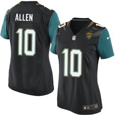 Women's Nike Jacksonville Jaguars #10 Brandon Allen Game Black Alternate NFL Jersey