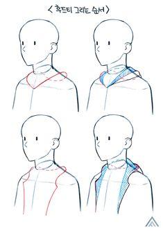 Manga Drawing Tutorials, Manga Tutorial, Art Tutorials, Drawing Lessons, Drawing Techniques, Drawing Base, Figure Drawing, Art Sketches, Art Drawings