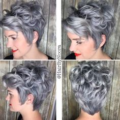 Noora Ahmad created this amazing sterling silver color with Demi and Violet Booster! Pastel Hair, Ombre Hair, Funky Hairstyles, Pretty Hairstyles, Short Curly Hair, Curly Hair Styles, Pelo Color Plata, Look 2018, Pelo Pixie