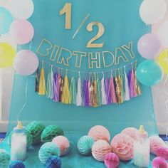 Half Birthday Photo Booth Styling! at Sweet Room at Hotel in Tokyo C'est un anniversaire de pour bébés de 6mois! Inspired by unicorn color⋈       Styling by Tokyo Flamingo (Instagram: rohicocco)