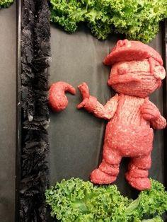 sculptures en viande hachee geek 4   Les sculptures en viande hachée de Epic Grinds   viande Sculpture pop culture Kieran Gormley hache