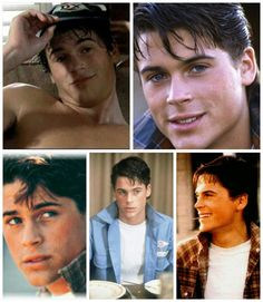 Hes looks the same today. So damn handsome. Cute Celebrity Guys, Cute Celebrities, Celebrity Crush, The Outsiders Sodapop, The Outsiders 1983, Rob Lowe Young, Rob Lowe 80s, Greaser Guys, Ideal Man
