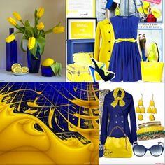 Жёлтый цвет - сочетание с другими цветами в одежде, фото