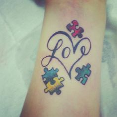1000 images about autism awareness tattoos on pinterest autism tattoos autism awareness. Black Bedroom Furniture Sets. Home Design Ideas