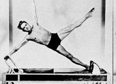 The man on the machine - Joseph Pilates on the Reformer!