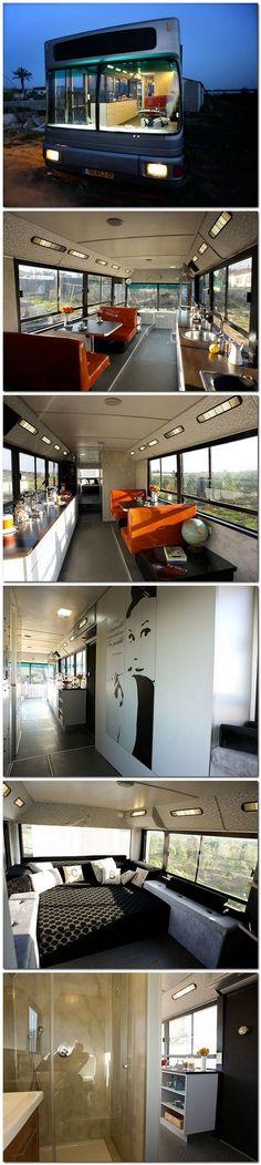Israeli Public Bus Transformed Into Luxury Home
