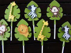 Safari de selva bebé ducha bandera primer por PearlySkies en Etsy