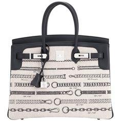3f2cef6cc46e Hermes VIP 35 De Camp Dechainee Toile Swift Chevre Limited Edition Birkin  Bag
