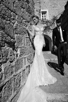 Mermaid wedding gown by Galia Lahav with long lace sleeves exaggerated sweetheart neckline natural waist bedazzled bodice lace mermaid skirt and cathedral lace train 2015 Wedding Dresses, Country Wedding Dresses, Stunning Wedding Dresses, Wedding 2015, Wedding Dress Shopping, Wedding Attire, Bridal Dresses, Wedding Gowns, Bridal 2015