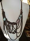 JUICY COUTURE MULTI CHAIN LINK  BAUBLES BIB, LOOPS, FRINGE, NECKLACE NWT $128 - amp, $128, Baubles, Chain, Couture, FRINGE, Juicy, Link, LOOPS, Multi, Necklace - http://designerjewelrygalleria.com/designer-jewelry-galleria/juicy-couture-multi-chain-link-baubles-bib-loops-fringe-necklace-nwt-128/