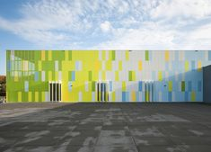 De Rietlanden Sports Hall by Slangen + Koenis Architects The visibility through the perforated panels is cool