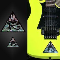 Pyramid Eye large and small Inlay Sticker Guitar & Bass Ibanez Jem Vai   look like real inlay