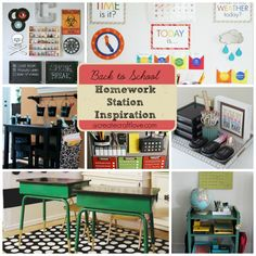 To everyone from pre-school to high school, you are bound to find something that works for you and your family. Here are some adorable and practical Homework Station Inspiration to keep everyone focused after school!