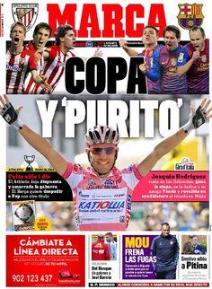 La portada del Marca: Copa y Purito. Graaaaaande!