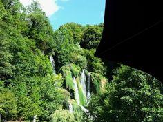cascade de glandieu vue du restaurant  puis cascade de Charabotte, cascade de la Fouge, cascade de Clairefontaine…