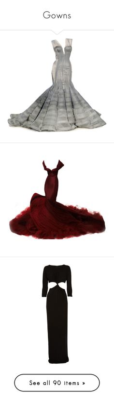 """""""Gowns"""" by bestgirlever ❤ liked on Polyvore featuring dresses, gowns, long dresses, vestidos, zac posen, zac posen evening gowns, zac posen evening dresses, zac posen gowns, zac posen dresses and maxi dress"""