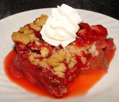 I was about the only rhubarb lover the time I made this, so I got most if it to myself!) Of course its good with vanilla ice cream or whipped cream. Its from Ladies Home Journal 100 Great Pie And Pastry Recipes. Saskatoon Recipes, Saskatoon Berry Recipe, Rhubarb Recipes, Strawberry Recipes, Strawberry Crisp, Strawberry Cobbler, Strawberry Filling, Dessert Recipes, Dessert Food