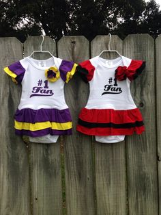 A personal favorite from my Etsy shop https://www.etsy.com/listing/250310432/ul-lsu-gameday-onesies