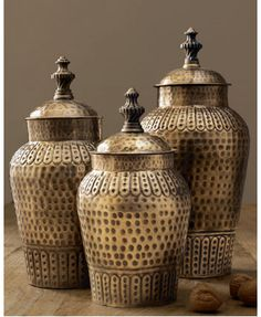 Captivating Brass Canister Set