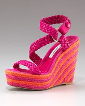 Lovely shoes for the summertime in Greece...to match the Bottega Veneta two-tone Deerskin tote in products I love!