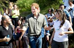 Popular guest: The prince was greeted by villagers and those who support the rainforest eco project